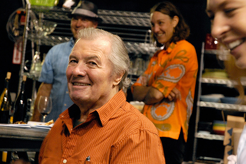 Jacques Pepin at the Essential Pepin wrap party. Photo by Wendy Goodfriend