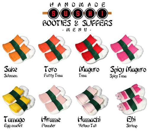 Sushi Booties