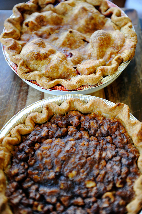 apple and walnut pies