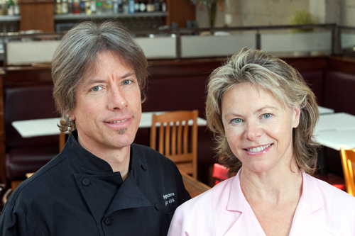 John Clark and Gayle Pirie. Photo: John A. Benson Photography