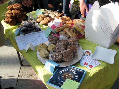 vegan bakesale table