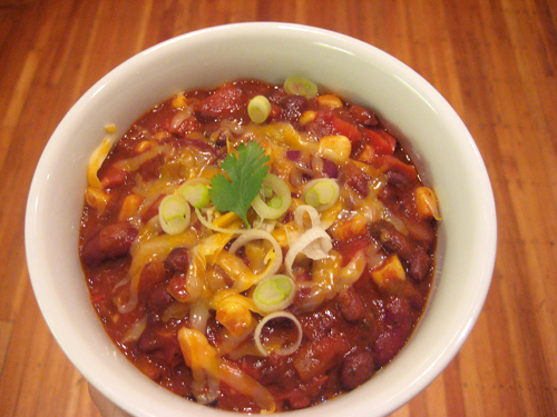 bowl of vegetarian chili