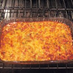 Cheesy Enchilada Casserole: Chicken + Vegetarian