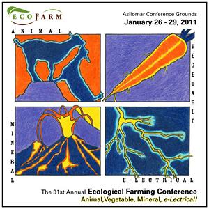 EcoFarm logo. Designed by Sarah Rabkin
