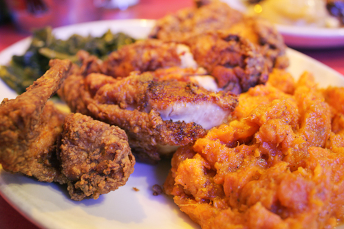 Fried Chicken, Candied Yams & Collard Greens, Hard Knox