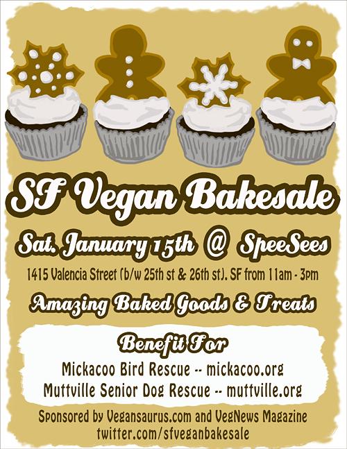 SF Vegan Baksale poster