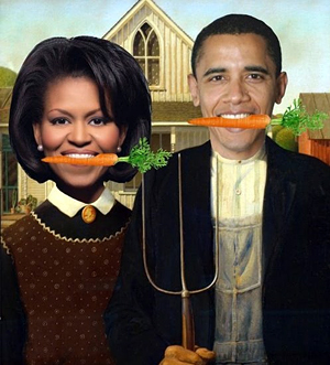 Obama Farmers. Photo collage by Roger Doiron at Eat The View
