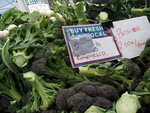 Romanesco broccoli at Ferry Plaza Farmers Market. Photo by Tamara Palmer