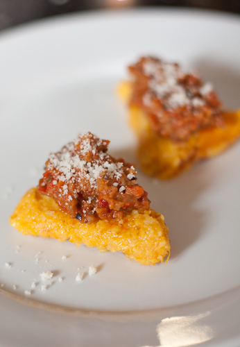 Butternut Squash Polenta: Meat-lovers v. Vegetarians