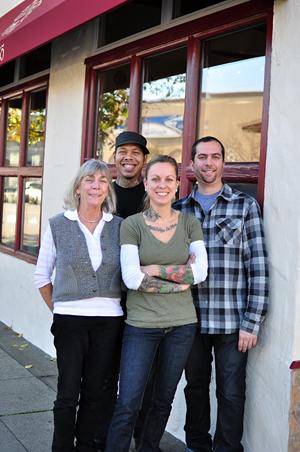 Sacred Wheel Crew- Bernice Davidson, Chris Howse, Jena Davidson Hood, Merrick Davidson. Photo by Marlene Saroni