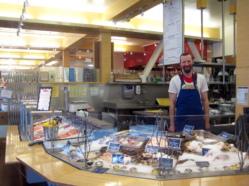 Sean of Hapuku Fish Shop at Market Hall