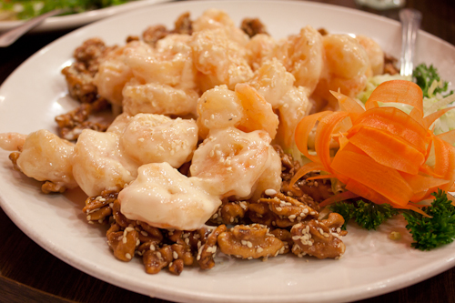 Prawns with Honey Walnuts, Canton Dim Sum & Seafood