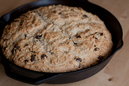 Homemade Irish Soda Bread with Raisins
