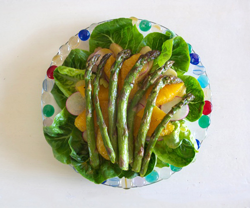 Spring Asparagus Salad. Photo: Chloe Atkins