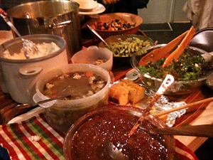 Home-style cooking was on the menu at the Eat-In hosted by performer Amara Tabor-Smith at CounterPULSE on Tuesday.