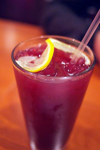 yerba mate blueberry lemonade at Source