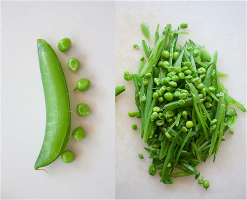 Sugar Snap Pea Salad with Mint, Almonds, and Caramelized Onions | Bay ...