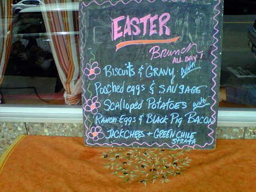 Easter brunch menu at Della Fattoria