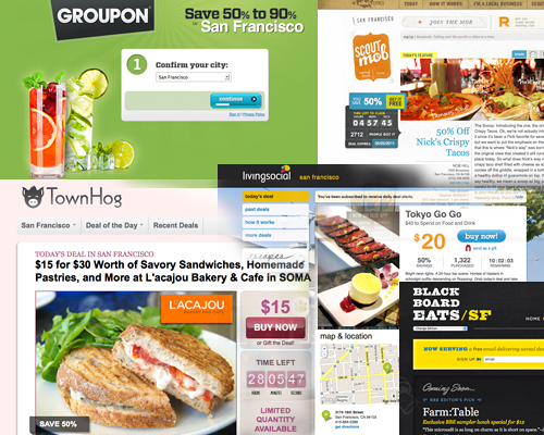collage of online coupon websites