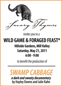 Swamp Cabbage event flyer