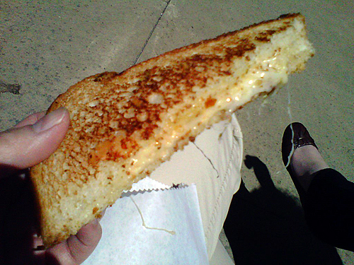 3 Cheese - grilled cheese sandwich