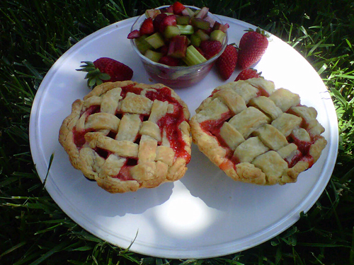 Strawberry Rhubarb Tarts