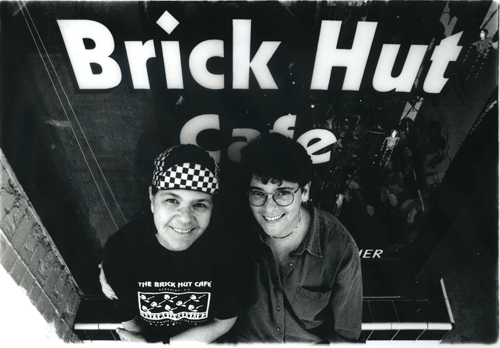 Sharon Davenport and Joan Antonuccio at The Brick Hut Cafe. Photo: Ace Morgan