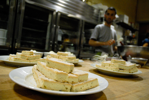 Lavender Shortbread at Perennial Plate Harvest dinner at Tartine Bakery. Photo by Wendy Goodfriend
