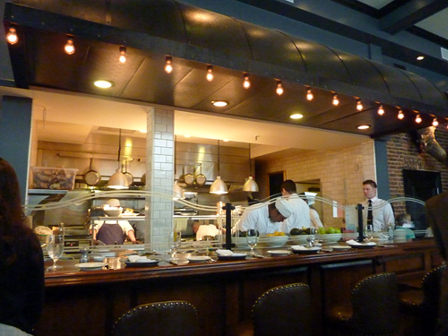 Open kitchen at Wayfare Tavern