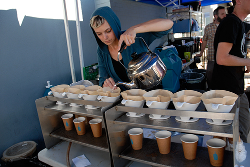 Blue Bottle Coffee at Ferry Plaza Farmers Market