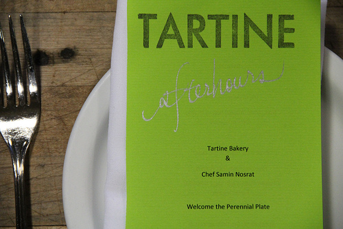 Tartine Afterhours menu - The Perennial Plate