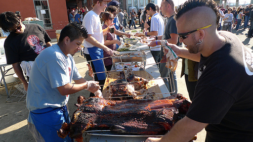 Prepping the Pig at Chop Bar Roast