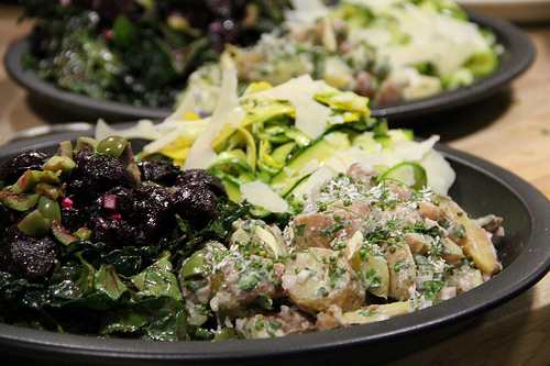 Trio of Daniels Salads: New Potato, Roasted Beets and Shaved Summer Squash