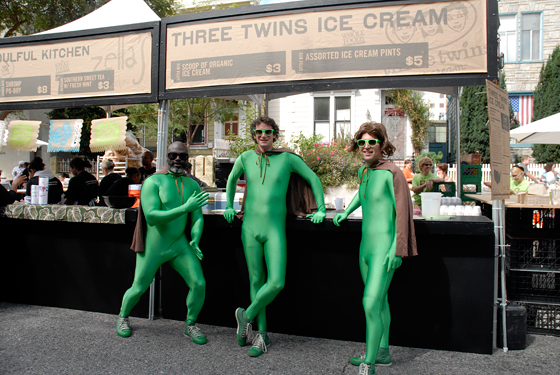 Three Twins Ice Cream guys. Photo by Wendy Goodfriend