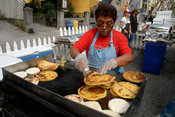 The Arepa Lady - Maria Piedad Cano from NYC. Photo by Wendy Goodfriend
