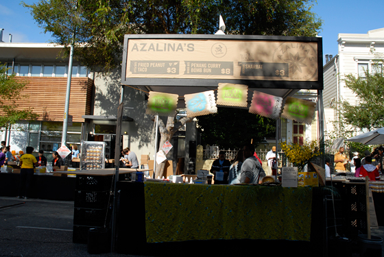 Azalinas booth at San Francisco Street Food Festival. Photo by Wendy Goodfriend