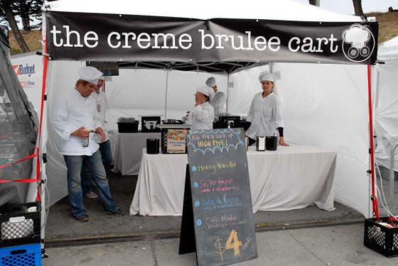 The Creme Brulee Cart. Photo by Wendy Goodfriend