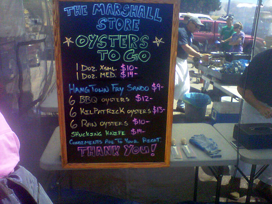 Marshall Oysters