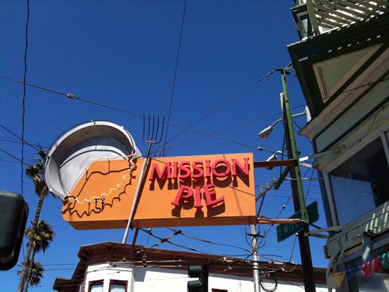 Mission Pie signage