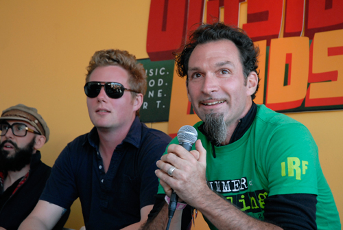 Press Conference at Outside Lands 2011. Photo by Wendy Goodfriend