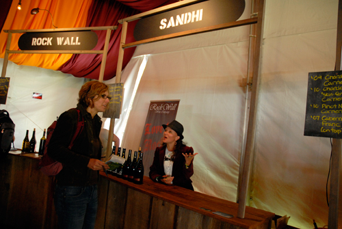 Sandhi wine booth at Wine Lands. Photo by Wendy Goodfriend