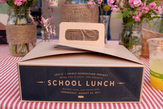 Alice Waters School Lunch box. Photo by Wendy Goodfriend