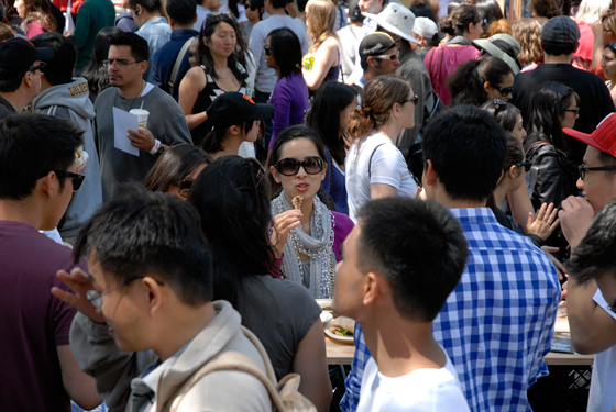 The crowds came out for the San Francisco Street Food Festival. Photo by Wendy Goodfriend