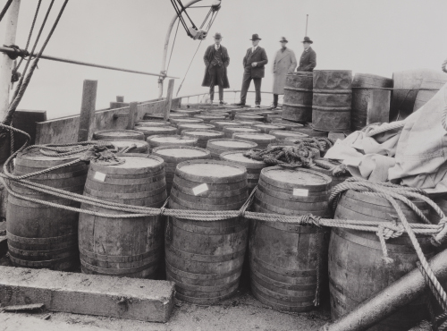 Confiscated liquor. Credit Library of Congress