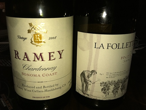 Ramey and La Follette wines. Photo by Lisa Adams Walter