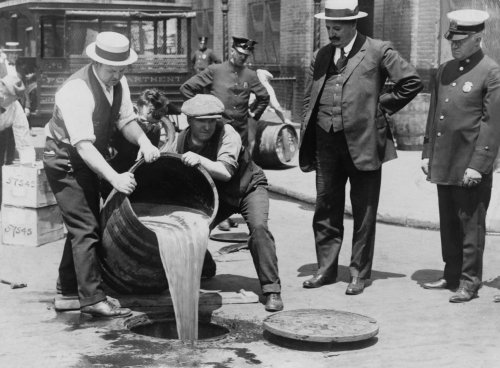 Liquor in Sewer NYC. Photo Credit: Library of Congress