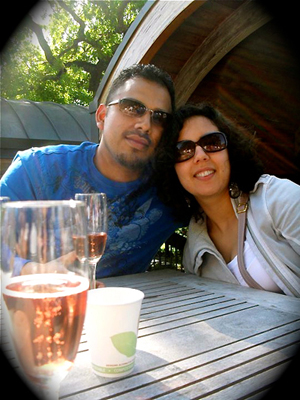 Dennis Arvizu and Mariana Sanchez in Napa. Photo courtesy of Dennis Arvizu