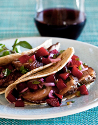 Duck Breast Tacos with Plum Salsa