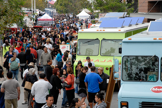 Eat Real Festival Crowd in Jack London Square, Oakland