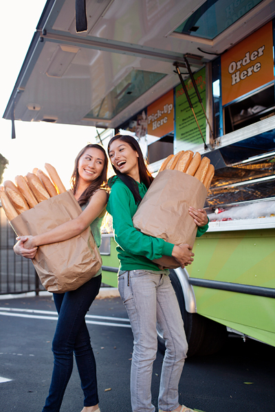 Nom Nom Truck owners - Jennifer Green and Misa Chien